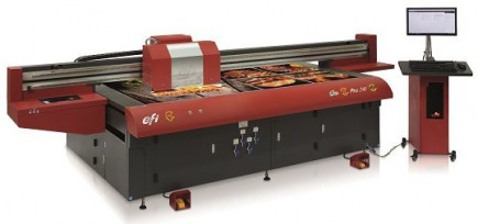 The EFI Pro 24f flatbed wide-format printer.
