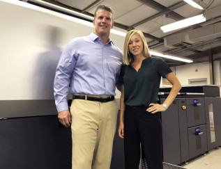 Fast-Track Commercial Printers: Ty Koon, VP, and Kimberly Lawton Koon, president, represent the fifth generation of management at family-owned Lawton Connect.