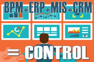 BPM + ERP + MIS + CRM = Business Under Control