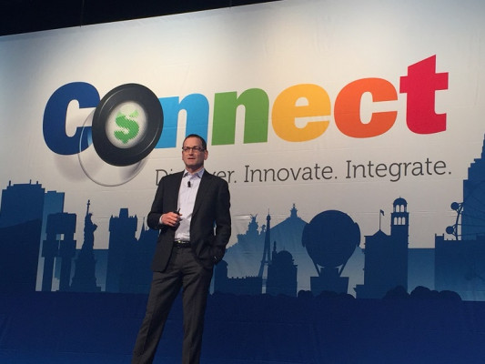EFI CFO Marc Olin talks about new product introductions during the second day of the conference.