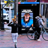 Eagles defense player Brandon Graham is shown in this Eagles digital display.
