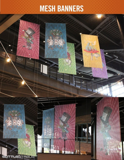 Mesh banners from Suttle-Straus.