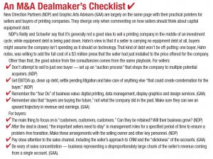 An M&A Dealmaker's Checklist
