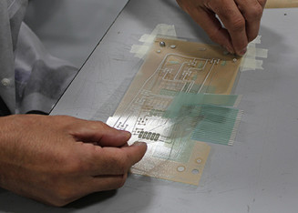Industrial Printing: Assembly of this circuit included screen printing with conductive ink and laser cutting with optical registration. (Source: ECI Screenprint)