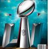 Game program for the Super Bowl.
