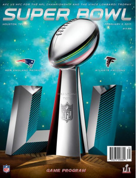 Game program for the Super Bowl.