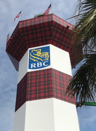 To commemorate the 50th anniversary of the RBC Heritage Golf Tournament, the Harbour Town Lighthouse was given a golf-themed facelift by Kennickell Group.