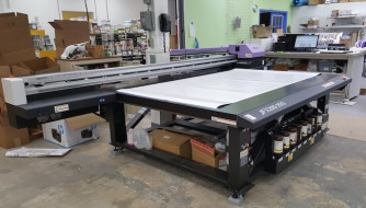 Allegra's new Mimaki JFX200-2513 UV flatbed printer.