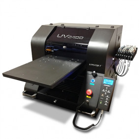 The UV2400 UV-LED direct-to-substrate printer from LogoJET.