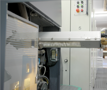 More Than One Cure for UV: An IST LED-UV system is installed after the last printing unit on a manroland 305 sheetfed offset press.