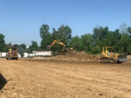 Hopkins Printing has begun construction of its new addition.