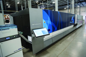Océ ProStream 1000 continuous-feed color inkjet press from Canon Solutions America.