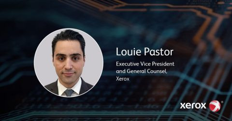 Louie Pastor named Xerox General Counsel.