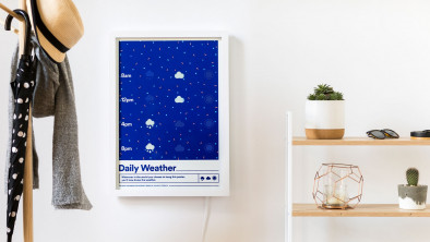 The Weather Poster, The Screen-Printed Wall Décor That Also Gives You the Weather Report