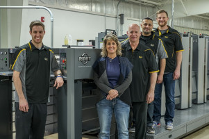 Graphic Promotions installs RMGT LED-UV sheetfed offset instead of half-size digital printing press.