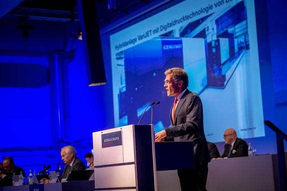 Koenig & Bauer CEO Claus Bolza-Schünemann