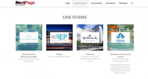 case studies on nextpage website
