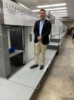 Southeastern Printing installs new Komori sheetfed offset perfecting press.