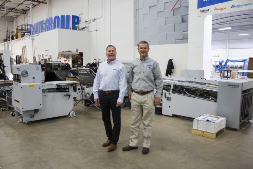 Slate Group adds new Heidelberg cutter and folder to increase print shop productivity.