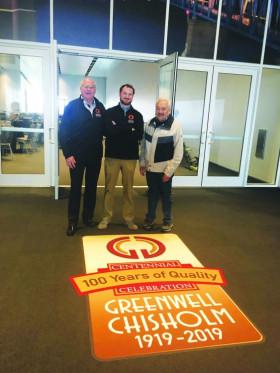 Greenwell Chisholm 100th anniversary sign