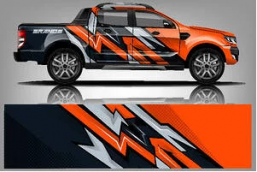 example of wide-format printing via a vehicle wrap