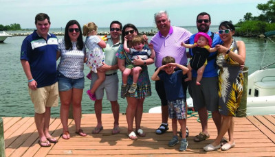 Ken Boone gathered with his three children, their spouses, and his grandchildren to celebrate Father's Day last month.