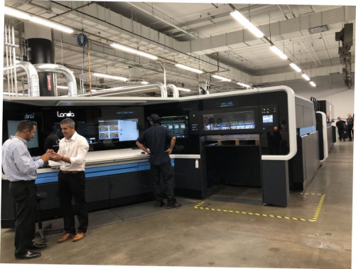 Mercury Print Productions of Rochester, NY, showed off its Landa S10P Nanographic Printing Press to visiting journalists and analysts on June 27. The Landa S10P now in beta testing there is the first placement of a Landa Nanographic press in the U.S.