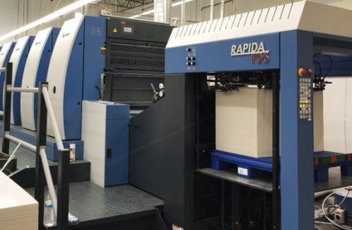 The 2017 installation of an eight-color, 41˝ Koenig & Bauer Rapida 106 UV sheetfed press with coater enables high-quality offset production, including specialty packaging.