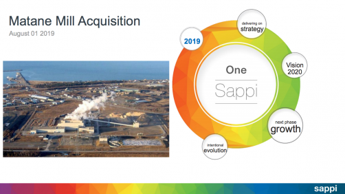 Sappi North America will acquire the Matane Mill in Quebec from Rayonier Advanced Materials.