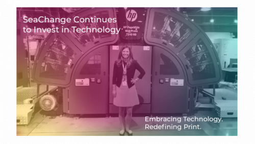 SeaChange Is First Printer in Minnesota to Purchase an HP PageWide T240 HD Inkjet Web Printing Press.