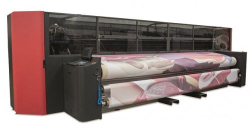 EFI VUTEk FabriVU 520 dye-sublimation printer installed by Imaged Advertising Creations (IAC) is first in in Canada..