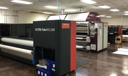 Printing for trade shows and exhibitions is a big part of D'Andrea's business. An EFI VUTEk FabriVU 340 digital fabric printer is being used to produce graphics jobs in a range of sizes.