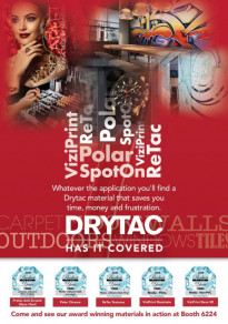 PRINTING United 2019 will feature an immersive experience for visitors, packed with applications using Drytac products