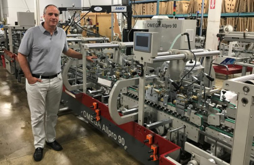 Dave Ellis, president of Ellis Paper Box, is proud to own the first North American Duran Omega Allpro 90 Folder Gluer at his 60,000 sq ft Mississauga, Ontario facility.