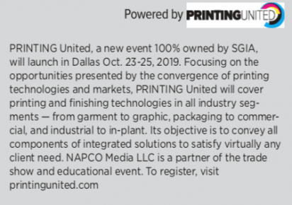 PRINTING United convergence disclaimer