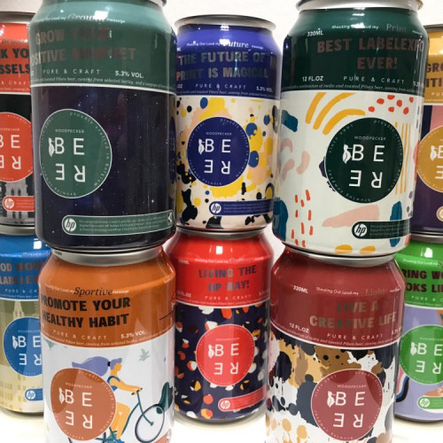 Shrink sleeves on beer cans by HP and Karlville_3