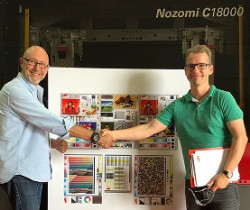 EFI Nozomi C18000, the ultra-high-speed, single-pass, direct-to-board digital printer passed the institute's Process Standard Digital Print Check this summer.