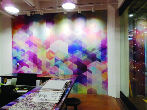 One of Flavor Paper's proprietary wallcovering designs.