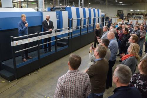 Carlson Print Group Introduces New Koenig & Bauer Rapida 105 PRO Six-Color Press