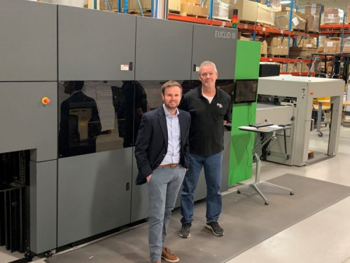 Only 18 months after Color Ink installed a 29˝ Komori Impremia IS29 digital printing system, it has installed a Highcon Euclid III laser digital diecutting system from Komori America.