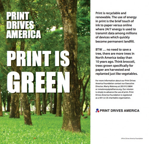 Print Drives America Ad Appears in Wall Street Journal National Edition