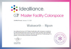 IDEAlliance Awards Walsworth-Ripon Top Level G7 Colorspace Master Qualification for 2020