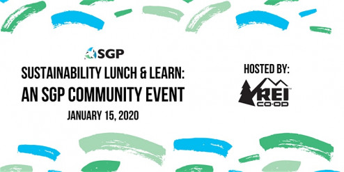 The SGP sustainability event will take place on January 15, 2020 at REI's Flagship Store in Seattle, Wash.