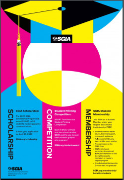 SGIA Opens Annual Scholarship Program, ASDPT Tom Frecska Student Printing Competition