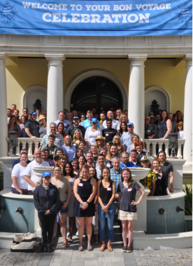 Proforma started the celebration with a Bon Voyage party at the Muzzillo's home before the cruise.