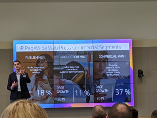 Carles Farre, worldwide director of PageWide Commercial Business at HP, gave the attendees in San Diego an update on the growth of the HP business portfolio.