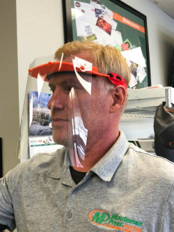 The Minuteman Press franchise procured directions for how to 3D print face shields, and immediately got to work.