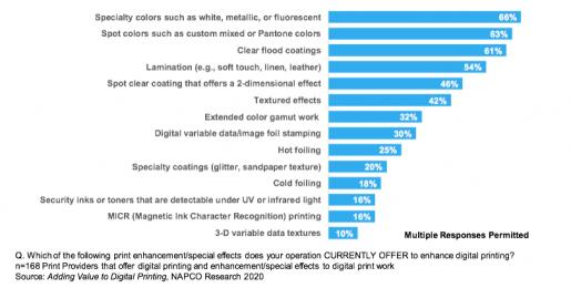Figure 2: Digital Print Embellishments Offered