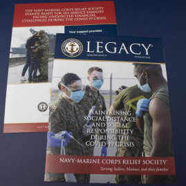 Master Print recently completed a newsletter for the Navy-Marine Corps Relief Society to provide information on COVID-19.