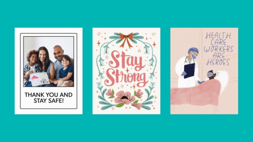 Postable, a US web-to-print greeting card company, is offering an online service to create and mail thank you cards to frontline workers.